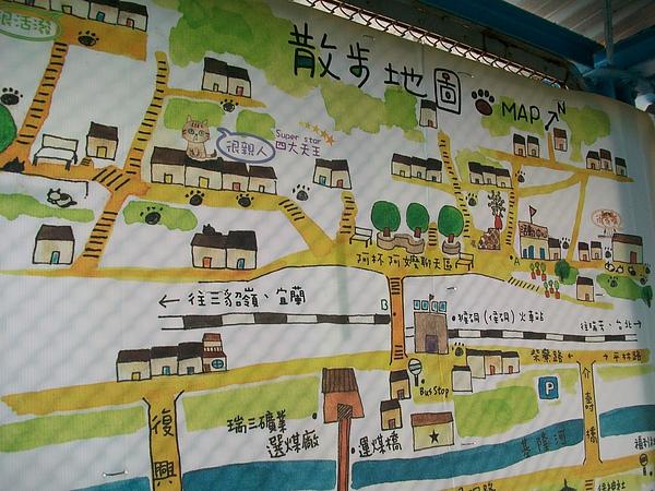 貓村散步地圖