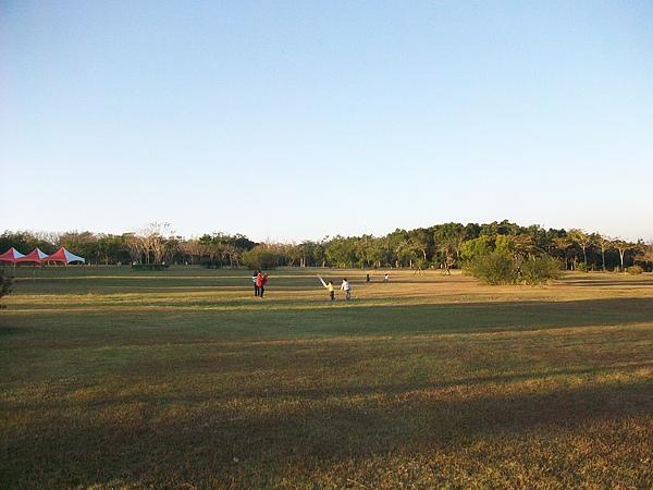 都會公園草地冬景