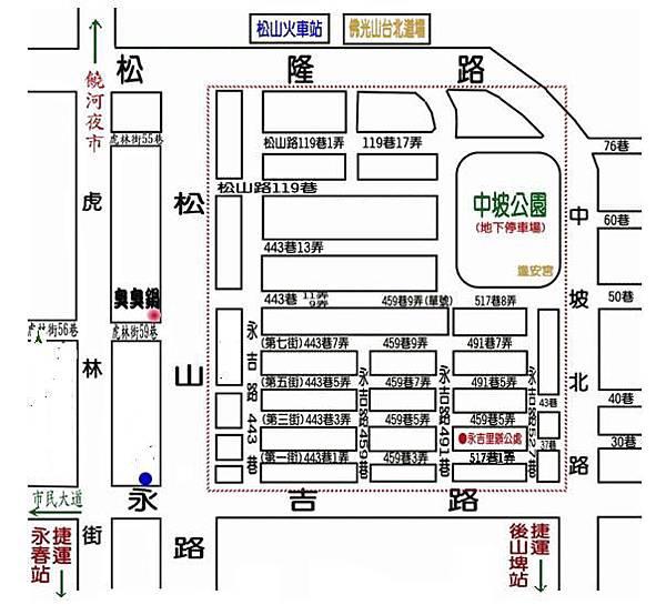 五分埔商圈地圖