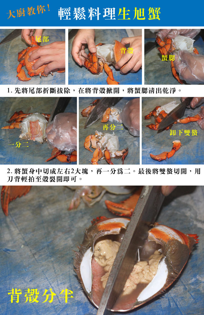 生旭蟹處理圖解