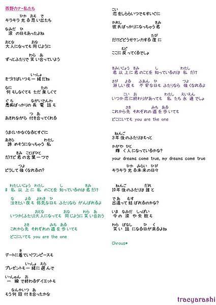 Lyrics_西野カナ-私たち
