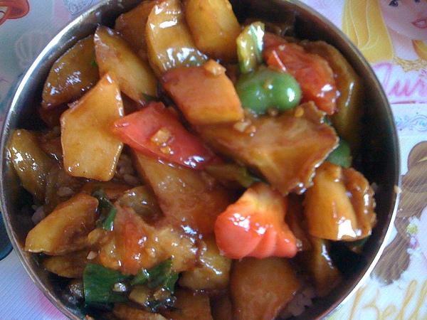 炒三鮮蓋飯