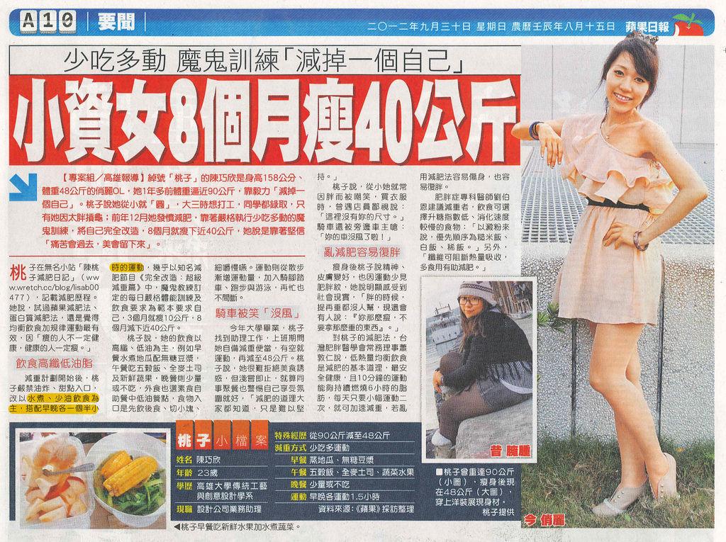 小資女8個月瘦40公斤