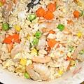 鮭魚蝦仁炒飯