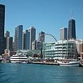Chicago Skyline in Navy Pier
