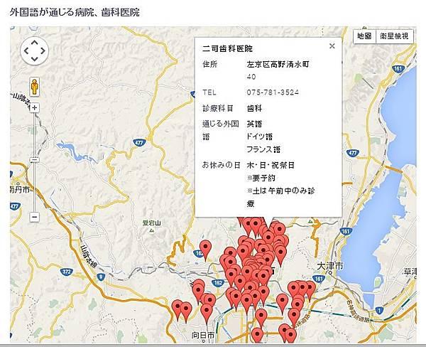京都醫院MAP