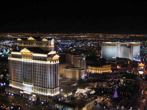 鳥瞰賭城夜景