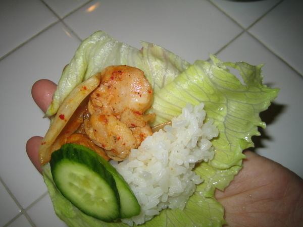 韓式泡菜雞肉包飯