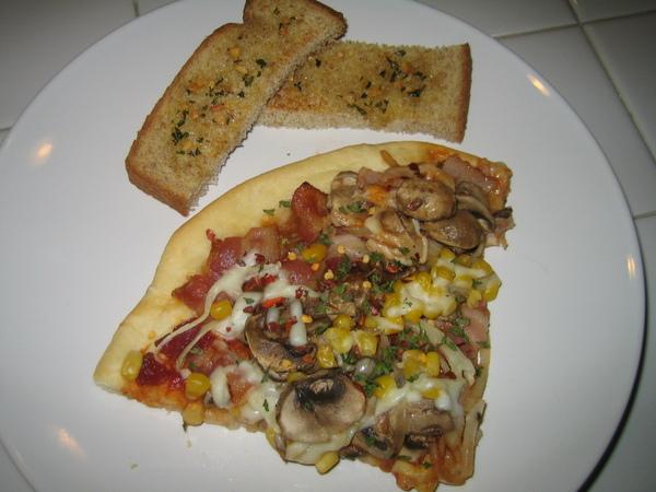 培根玉米脆皮披薩