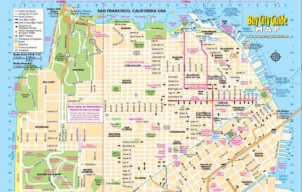 舊金山市區地圖