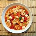 茄汁蝦仁豆腐1
