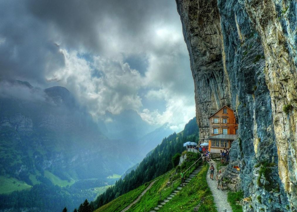 瑞士Äscher Cliff, Switzerland