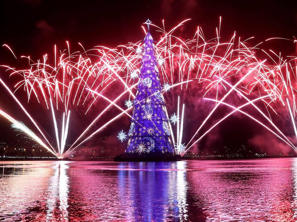 里約浮動聖誕樹
