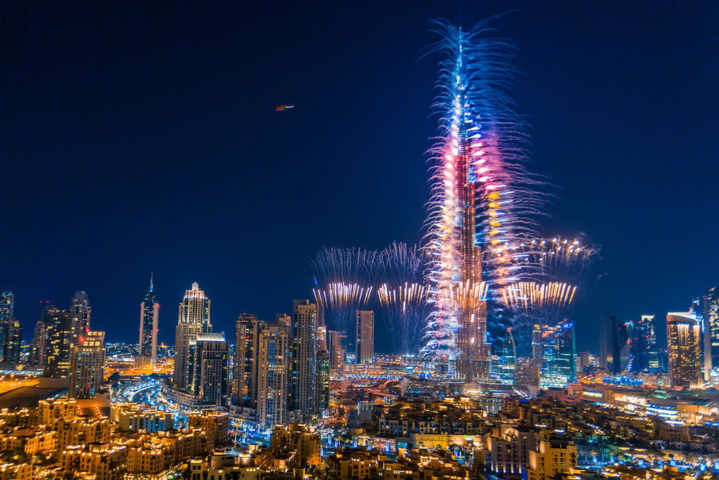 杜拜跨年煙火3
