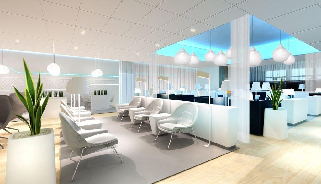 芬蘭航空赫爾辛基機場休息室