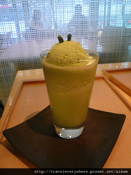 綠茶冰砂+冰淇淋