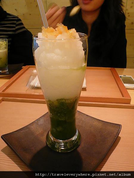 柚子綠茶冰砂