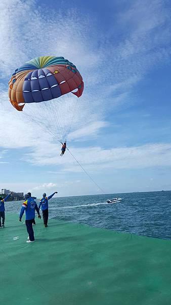 空中飛人托曳傘