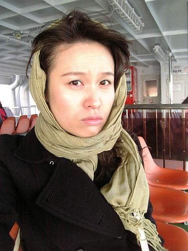 往宮島的渡輪上用手機拍的...超冷!!