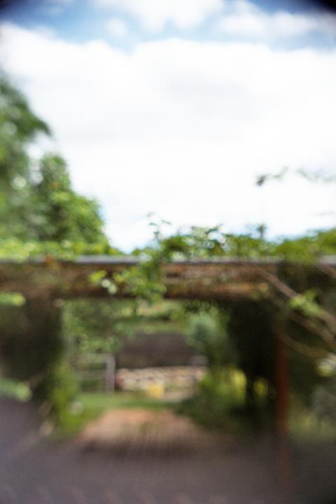 試拍 - 好天氣的竹籬笆通道
