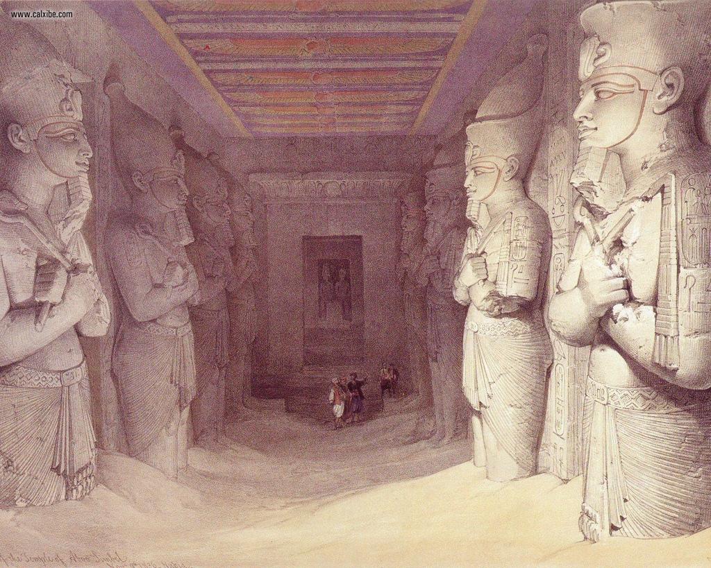 David_Roberts_pg48_The_Interior_Of_The_Great_Temple_At_Abu_Simbel_-1
