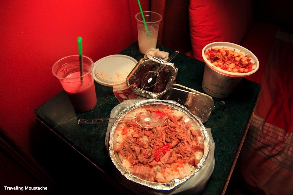 沙威瑪飯、Koshari、炸茄子與果汁