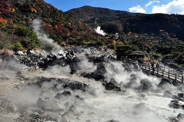雲仙溫泉鄉內的地獄奇景
