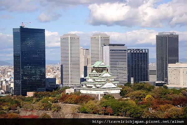 紅葉的大阪城