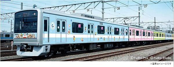 去年曇花一現的哆啦A夢彩繪列車,終於復活了。而且會一直開到明年3月呢!