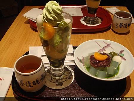 茶寮都路里的抹茶甜點套餐