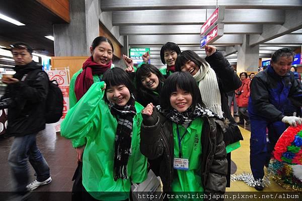 室堂站遇到日本國中生