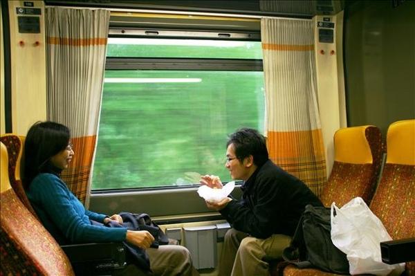往捷克火車上