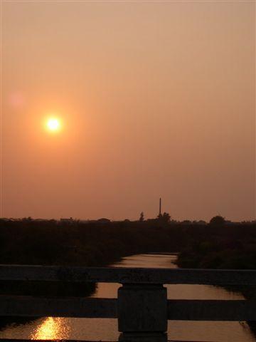 蒜頭橋夕陽