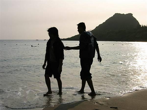 沙灘戲水(凱與朱)