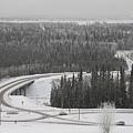 從大學山坡上看到的美麗雪景