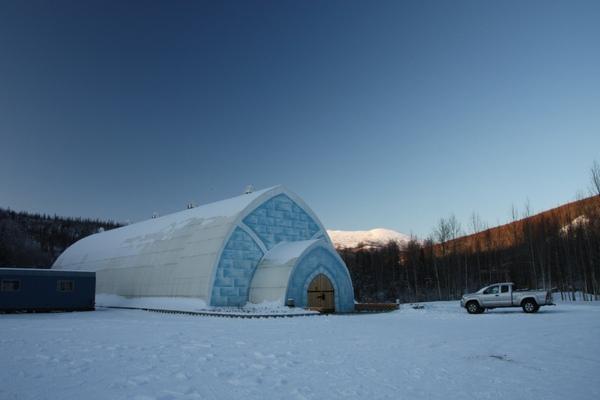 珍娜溫泉旁的冰雕博物館