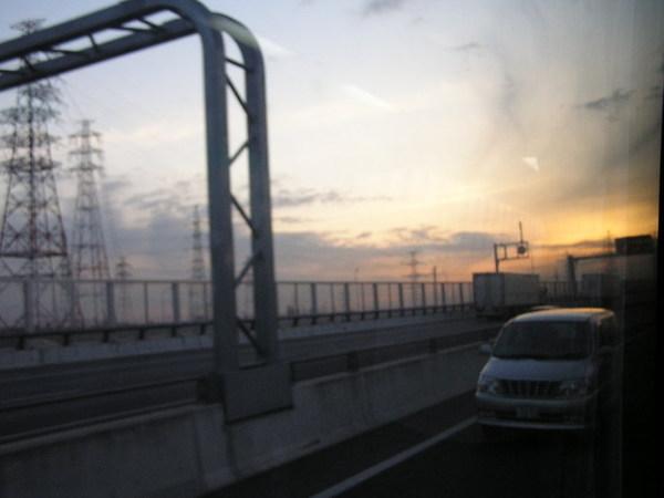名古屋機場夕陽.JPG