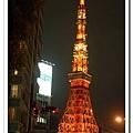 慶應大學前的大馬路望過去就有東京tower
