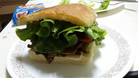 Focaccia beef sandwich 5