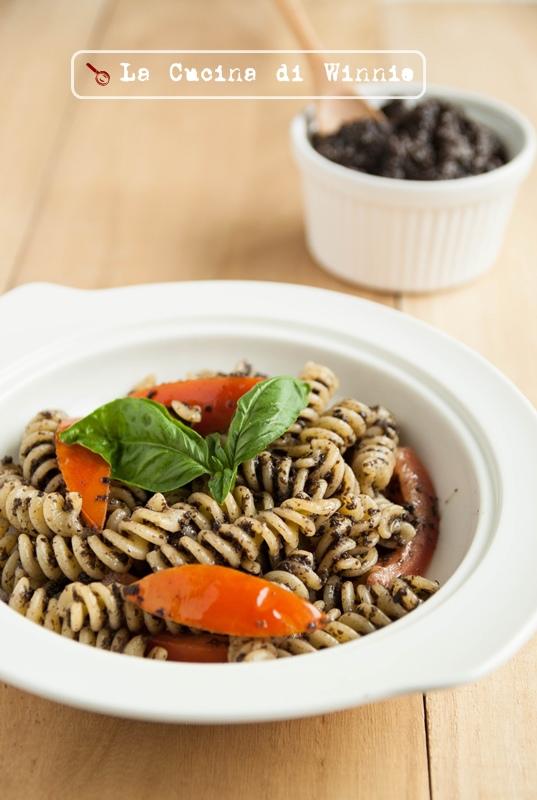 黑橄欖醬螺旋麵-1