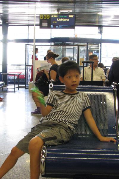 在維也納機場轉機