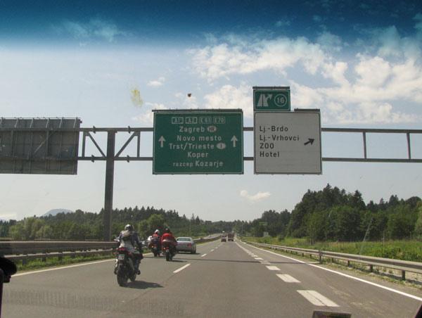往義大利trieste的高速公路上