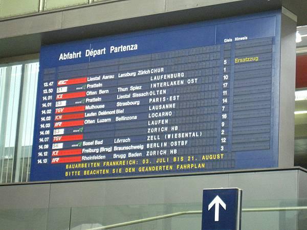 我們要坐的是14:01到Interlaken的ICE