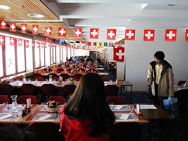 到了午餐時間,這是午餐的餐廳