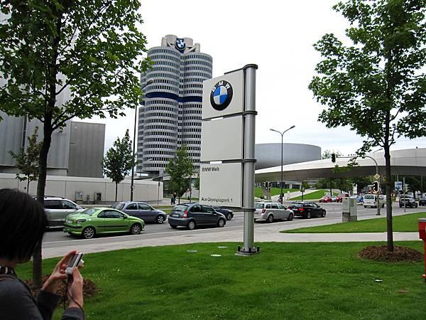 到達慕尼黑市區,參觀BMW展示中心
