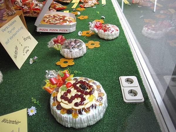 蛋糕狀,還有PIZZA狀,很厲害吧!