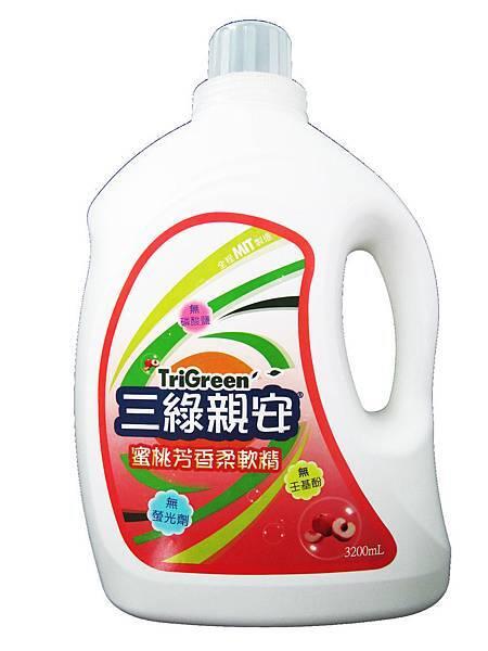 三綠親安 蜜桃芳香柔軟精-3200mL