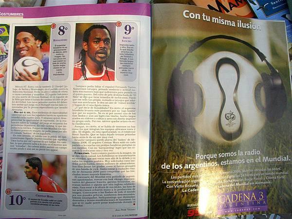 結論:這是一本偏心的阿根廷雜誌 XDD