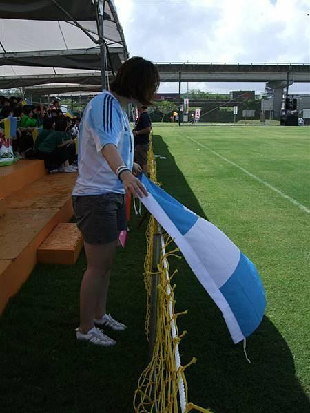 阿根廷國旗飛揚場邊