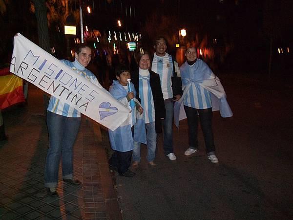 也有不少阿根廷球迷
